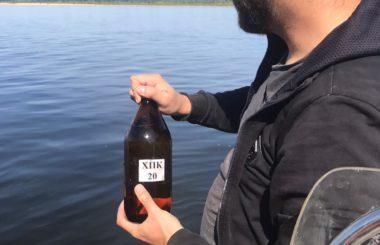 Отбор проб природной поверхностной воды специалистами филиала ЦЛАТИ по Волгоградской области.