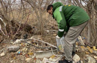 Отбор проб отходов и проб почвы специалистами филиала ЦЛАТИ по Волгоградской области.